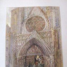 Arte: VALENCIA CATEDRAL CROMOLITOGRAFIA 1925 VISTA ARTISTA INGLES G. EDWARDS . Lote 37174953