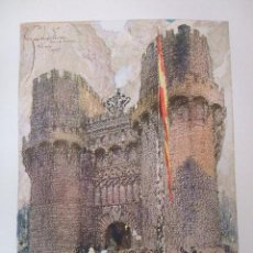 Arte: VALENCIA PUERTA DE SERRANOS CROMOLITOGRAFIA 1925 VISTA ARTISTA INGLES G. EDWARDS . Lote 37174955