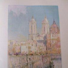 Arte: CADIZ MUELLE Y CATEDRAL CROMOLITOGRAFIA 1925 VISTA ARTISTA INGLES G. EDWARDS . Lote 37175163