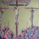 Arte: JESUS ENTRE DOS LADRONES..LITOGRAFIA DE THURWANGER 14X19. DUCCIO. Lote 37451141
