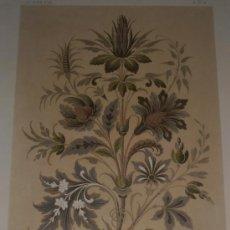 Arte: CROMOLITOGRAFÍA DE CH. CLAESEN CON MOTIVOS ORNAMENTALES FLORALES, SIGLO XIX, 31 X 21 CM, LIEGE. Lote 37717372
