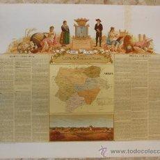 Arte: ALBACETE GRABADO CROMOLITOGRAFIA MAPA TIPOS SIGLO XIX - BORONAT. Lote 20707335