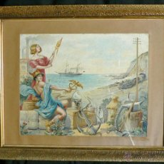 Arte: ALEGORIA DE COMERCIO INDUSTRIA Y NAVEGACION. Lote 39906767