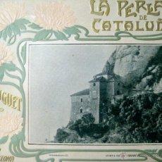 Arte: LA PERLA DE CATALUÑA. MONTSERRAT. CUEVA DE LA VIRGEN. CROMOLITOGRAFÍA. Lote 40165650