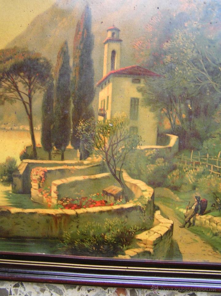 Arte: CROMOLITOGRAFÍA de paisaje S, XIX. Enmarcación original de época. 57 x 45 cm. - Foto 2 - 40319074