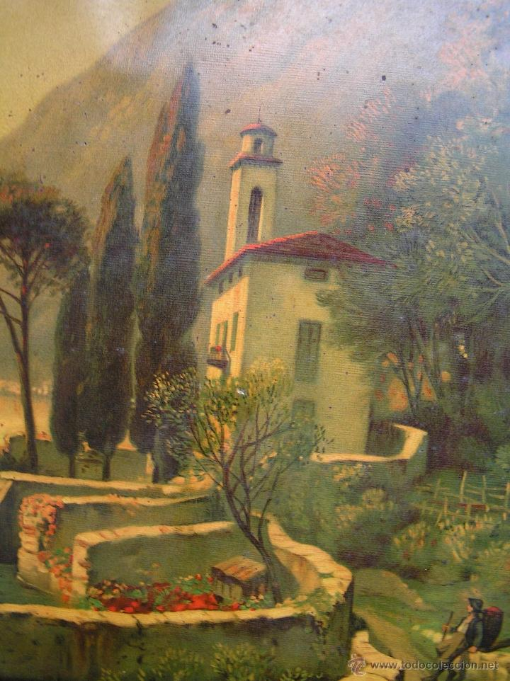 Arte: CROMOLITOGRAFÍA de paisaje S, XIX. Enmarcación original de época. 57 x 45 cm. - Foto 3 - 40319074