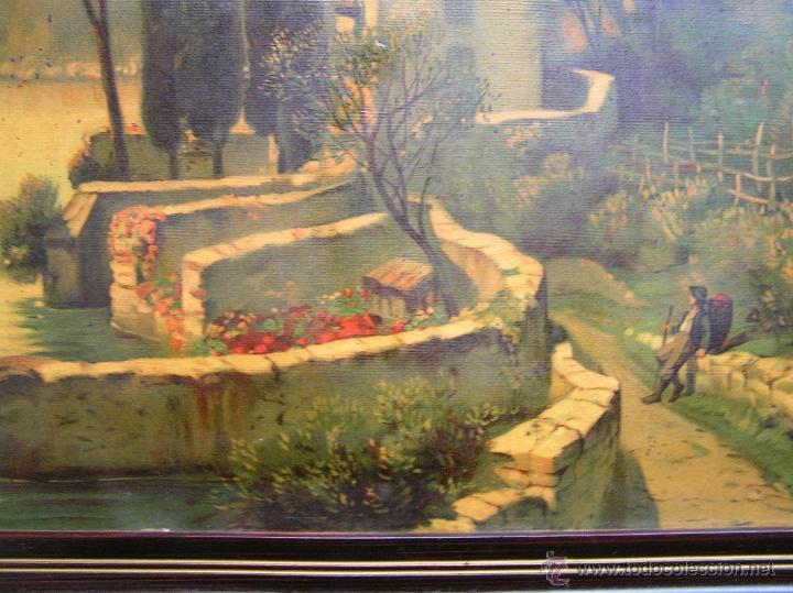 Arte: CROMOLITOGRAFÍA de paisaje S, XIX. Enmarcación original de época. 57 x 45 cm. - Foto 4 - 40319074