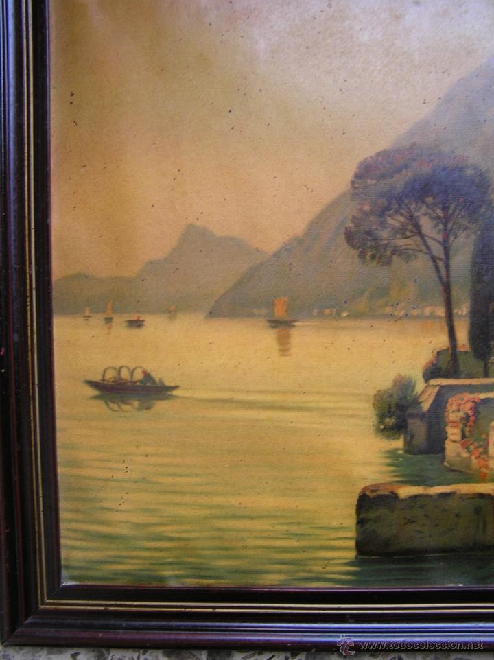 Arte: CROMOLITOGRAFÍA de paisaje S, XIX. Enmarcación original de época. 57 x 45 cm. - Foto 5 - 40319074