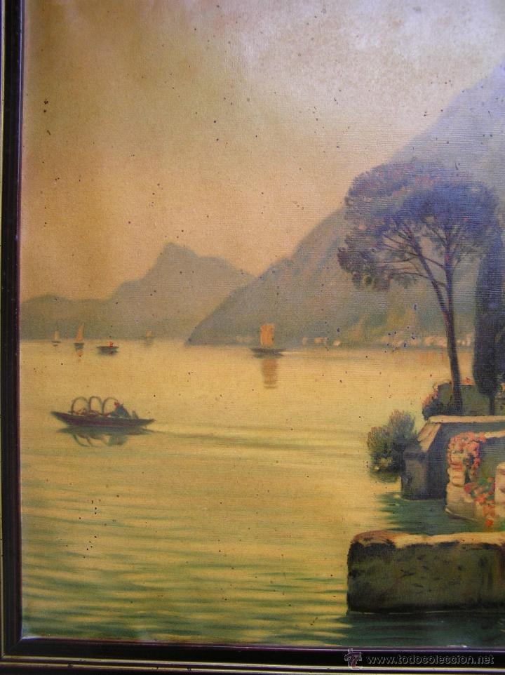 Arte: CROMOLITOGRAFÍA de paisaje S, XIX. Enmarcación original de época. 57 x 45 cm. - Foto 6 - 40319074