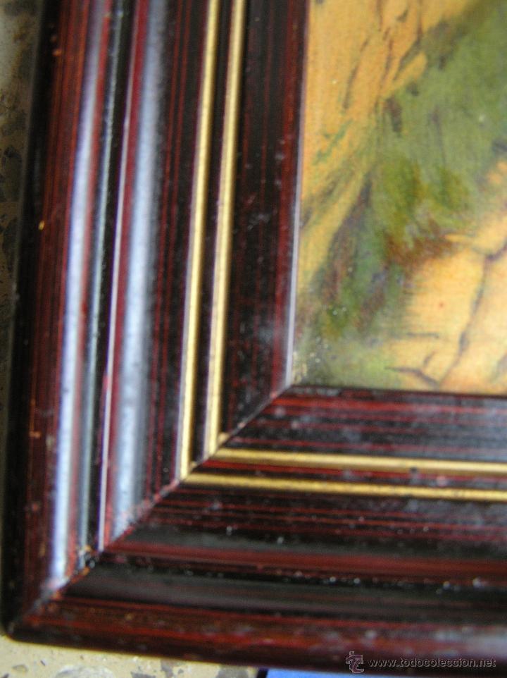 Arte: CROMOLITOGRAFÍA de paisaje S, XIX. Enmarcación original de época. 57 x 45 cm. - Foto 7 - 40319074