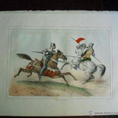 Arte: 1853 CROMOLITOGRAFÍA PROCEDENTE DE LA OBRA HISTORIA ORGÁNICA DE LAS ARMAS DEL CONDE DE CLONARD. Lote 40404892