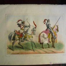 Arte: 1853 CROMOLITOGRAFIA PROCEDENTE DE LA HISTORIA ORGÁNICA DE LAS ARMAS DEL CONDE DE CLONARD. Lote 40404901