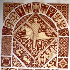 Arte: ARTE ROMANICO – GOTICO: EMBALDOSADOS LÁMINA CROMOLITOGRAFIADA - 1897 TODO COLOR FORMATO 34 X 25 CM . Lote 41084987