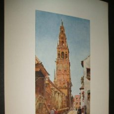 Arte: CORDOBA TORRE CAMPANARIO CROMOLITOGRAFIA D ACUARELA W.COLLINS ARTISTA INGLES 1905 . Lote 41121720