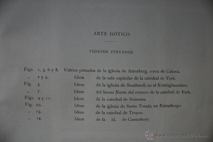 Arte: ARTE GÓTICO: VIDRIOS PINTADOS LÁMINA CROMOLITOGRAFIADA - 1897 MONTANER Y SIMON EDITORES - Foto 2 - 41264133