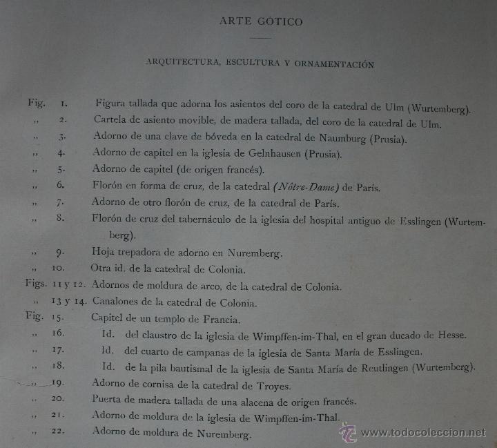 Arte: ARTE GÓTICO: ARQUITECTURA, ESCULTURA Y ORNAMENTACION LÁMINA CROMOLITOGRAFIADA - 1897 MONTANER Y ... - Foto 2 - 41264486