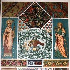 Arte: ARTE GÓTICO: PINTURA MURAL Y DE TECHOS LÁMINA CROMOLITOGRAFIADA - 1897 MONTANER Y SIMON EDITORES. Lote 41265203