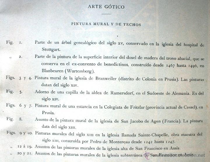 Arte: ARTE GÓTICO: PINTURA MURAL Y DE TECHOS LÁMINA CROMOLITOGRAFIADA - 1897 MONTANER Y SIMON EDITORES - Foto 2 - 41265203