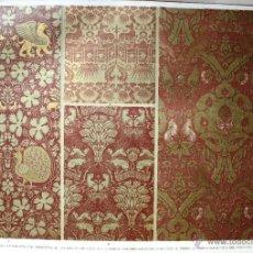 Arte: TÉJIDOS (I) LÁMINA CROMOLITOGRAFIADA - 1897 MONTANER Y SIMON EDITORES. Lote 41265429