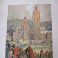 Arte: SEGOVIA LA CATEDRAL CROMOLITOGRAFIA 1925 VISTA ARTISTA INGLES G. EDWARDS. Lote 41274492