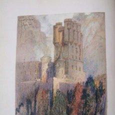 Arte: SEGOVIA EL ALCAZAR CROMOLITOGRAFIA 1925 VISTA ARTISTA INGLES G. EDWARDS. Lote 41274497