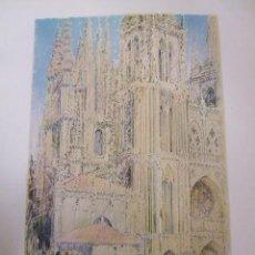 Arte: BURGOS LA CATEDRAL CROMOLITOGRAFIA 1925 VISTA ARTISTA INGLES G. EDWARDS. Lote 41274504