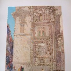 Arte: BURGOS CAPILLA DEL CONDESTABLE CROMOLITOGRAFIA 1925 VISTA ARTISTA INGLES G. EDWARDS. Lote 41274514