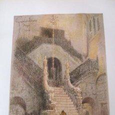 Arte: BURGOS CATEDRAL ESCALERA DORADA CROMOLITOGRAFIA 1925 VISTA ARTISTA INGLES G. EDWARDS. Lote 41274566