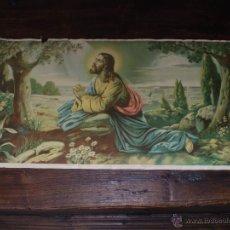 Arte: CROMOGRAFIA CRISTO EN EL MONTE DE LOS OLIVOS. Lote 42126394