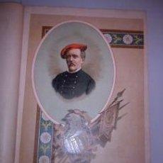 Arte: BELLA CROMOLITOGRAFÍA (C. 1890) - CARLISMO - RETRATO DE DON MANUEL MARCO - 32X23. Lote 43922606