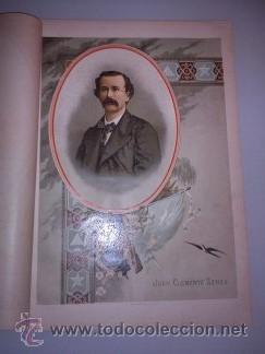 BELLA CROMOLITOGRAFÍA (C. 1890) - CUBA - RETRATO DE JUAN CLEMENTE ZENEA - 32X23 (Arte - Cromolitografía)