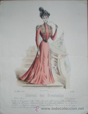 JOURNAL DES DEMOISELLES. MODES DE PARIS. 15 MARS 1900. (Arte - Cromolitografía)