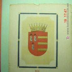 Arte: 3890 HERALDICA CONDE DEL REAL CROMOLITOGRAFIA SIGLO XIX - COSAS&CURIOSAS. Lote 25322979
