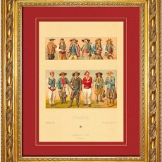 Arte: ALBERT RACINET - GRABADO ORIGINAL DE 1880 FRANCIA COSTUMBRES BRETONAS S.XIX. Lote 46945034