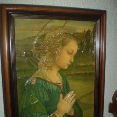 Arte: VIRGEN MARIA CROMOGRAFIA EN RELIEVE. Lote 47069075