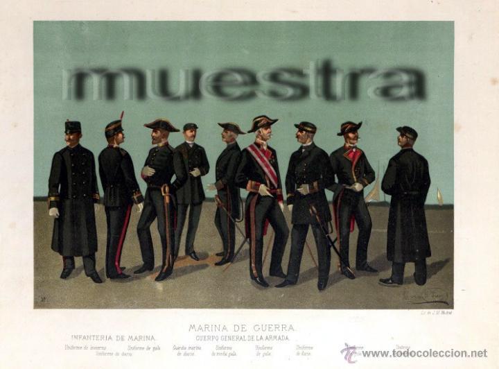 Arte: Cromolitografía pint. Enrique de Soria Santa Cruz -1884 - Foto 5 - 47425515