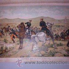 Arte: CROMOLITOGRAFÍA (C. 1890) - CARLISMO - DESASTRE DE LÁCAR. Lote 47487522