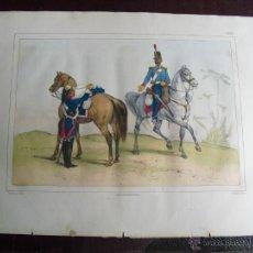 Arte: 1851 SOLDADOS DE CABALLERIA DE LINEA EN 1828. Lote 48582199