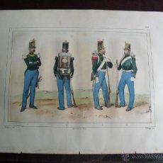 Arte: 1851 CAPITAN Y SOLDADOS DE INFANTERIA EN 1841. Lote 48582256