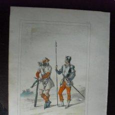 Arte: 1852 BALLESTERO Y PIQUERO EN 1505 HISTORIA DE LAS ARMAS DEL CONDE DE CLONARD. Lote 48616163