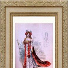 Arte: LA MODE ARTISTIQUE ORIGINAL S.XIX, G. JANET, COLOREADA A MANO, MODA ELEGANTE DE CARNAVAL, PARIS, 43X. Lote 48652525