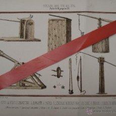 Arte: CROMOLITOGRAFIA ANTIGUA - ARMAS - SIGLOS DEL VII AL XV.. Lote 49126575