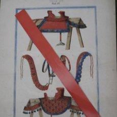 Arte: CROMOLITOGRAFIA ANTIGUA - MONTURAS Y BRIDAS DEL SIGLO XV.. Lote 49126689