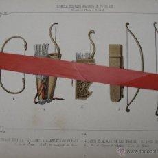 Arte: CROMOLITOGRAFIA ANTIGUA - ARMAS - EPOCA DE LOS MEDOS Y PERSAS.. Lote 49129871