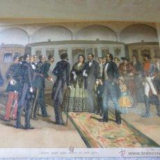 Art: CROMOLITOGRAFÍA CARLISTA HISTORIA CONTEMPORÁNEA DE LA GUERRA CIVIL ANTONIO DE PIRALA SIGLO XIX. Lote 49281416
