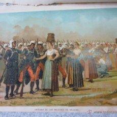 Art: CROMOLITOGRAFÍA CARLISTA HISTORIA CONTEMPORÁNEA DE LA GUERRA CIVIL ANTONIO DE PIRALA SIGLO XIX. Lote 49281861