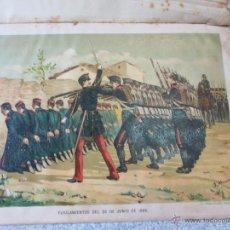 Art: CROMOLITOGRAFÍA CARLISTA HISTORIA CONTEMPORÁNEA DE LA GUERRA CIVIL ANTONIO DE PIRALA SIGLO XIX. Lote 49282046