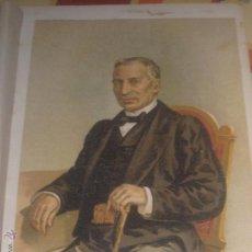 Arte: CROMOLITOGRAFÍA CARLISTA D. JUAN ANTONIO ZARATIEGUI LA GUERRA CIVIL ANTONIO DE PIRALA SIGLO XIX. Lote 49732303