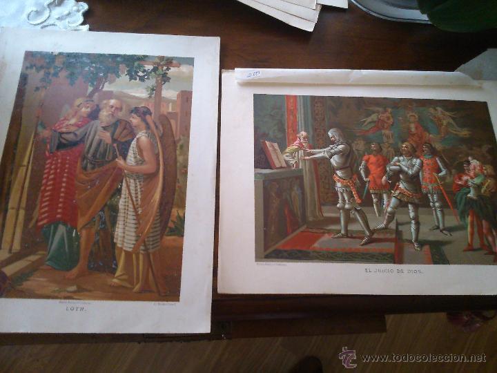 * ANTIGUAS CROMOLITOGRAFIAS: LOTH Y EL JUICIO DE DIOS (Arte - Cromolitografía)