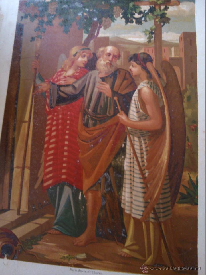 Arte: * ANTIGUAS CROMOLITOGRAFIAS: LOTH Y EL JUICIO DE DIOS - Foto 2 - 50033093